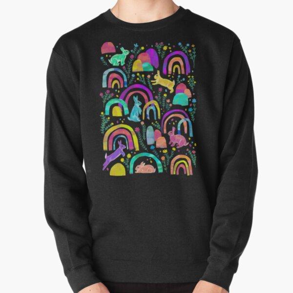 Rainbow Rabbits - black Pullover Sweatshirt