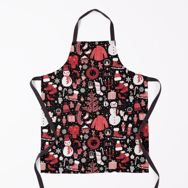 Pink & Red Christmas Pattern Apron