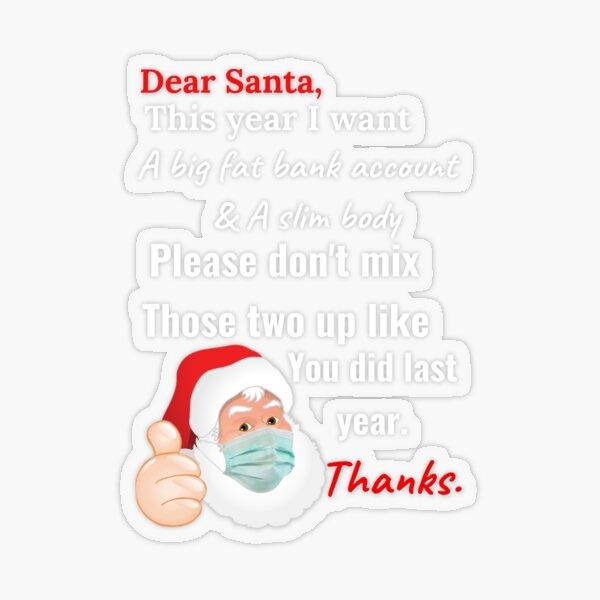 Dear Santa Lockdown Message Funny Womens Christmas Jumper