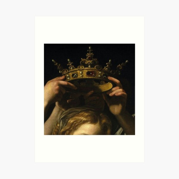 Hands and crown Art Print
