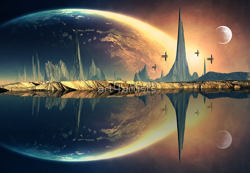 """Alien Planet - Fantasy Landscape"" Art Prints by ..."