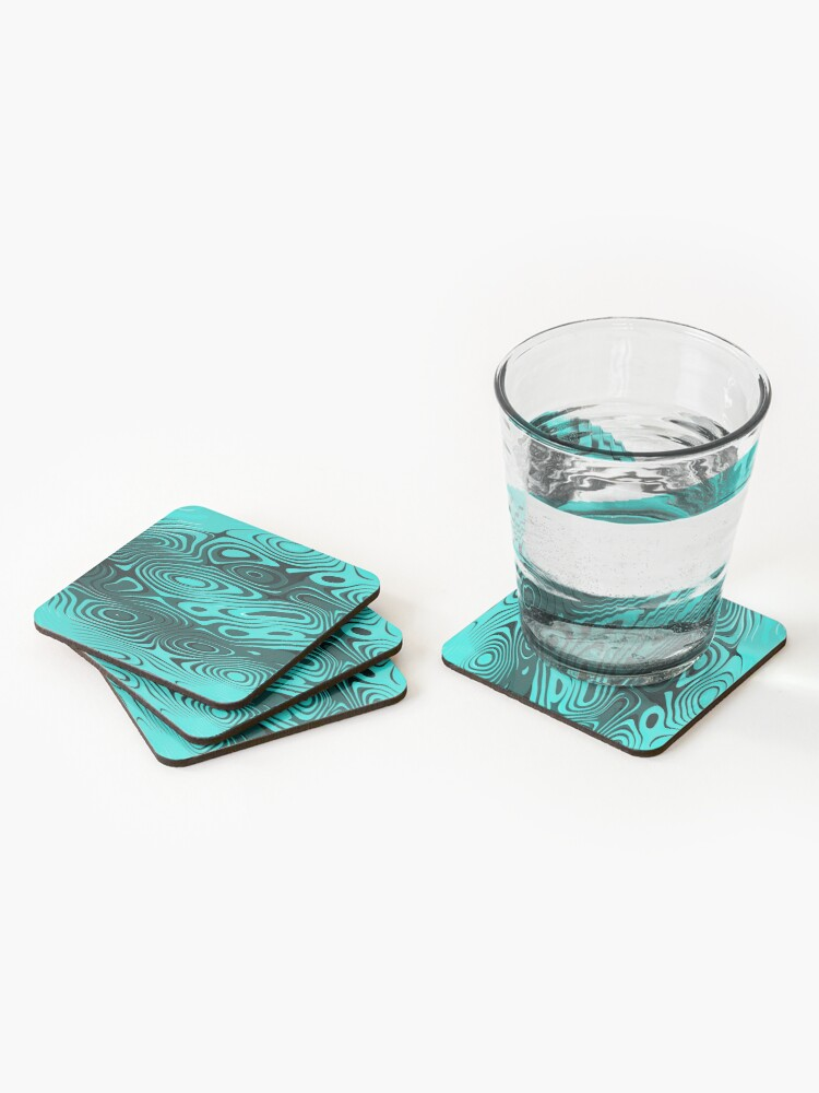 Alternate view of Psychedelic art. Art movement Coasters (Set of 4)