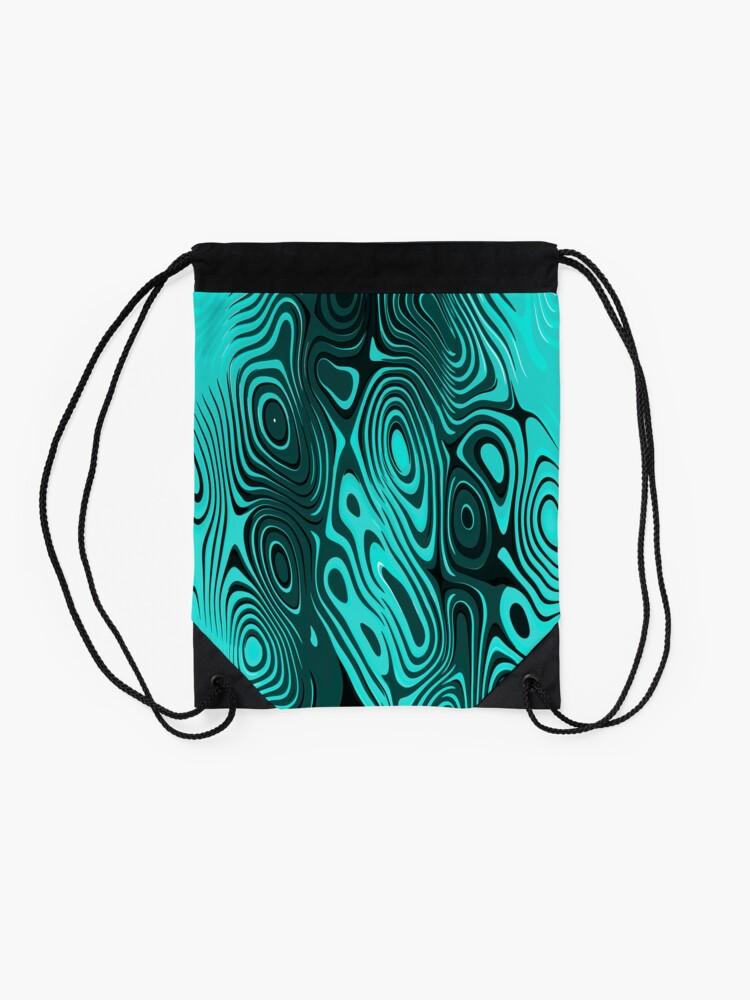 Alternate view of Psychedelic art. Art movement Drawstring Bag