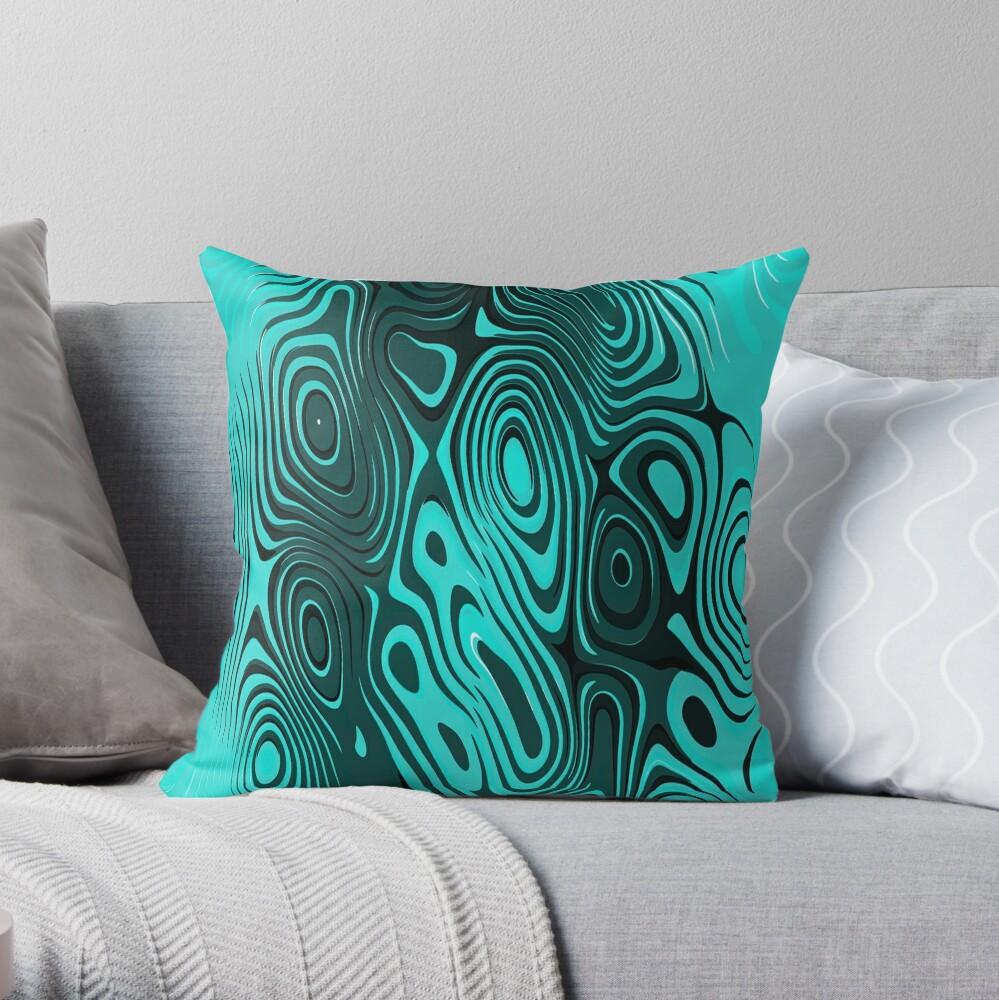 Psychedelic art. Art movement Throw Pillow