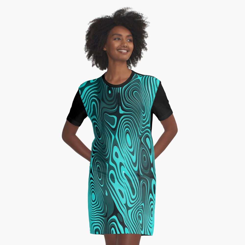 Psychedelic art. Art movement: Graphic T-Shirt Dress