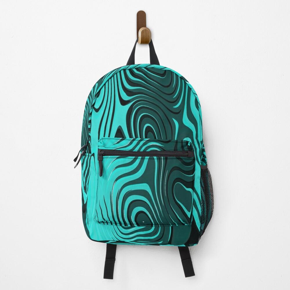 Psychedelic art. Art movement Backpack