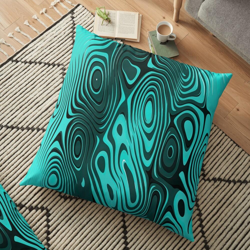 Psychedelic art. Art movement Floor Pillow