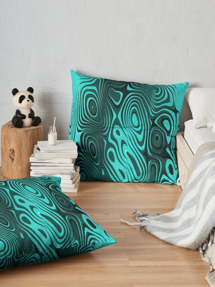 Alternate view of Psychedelic art. Art movement Floor Pillow