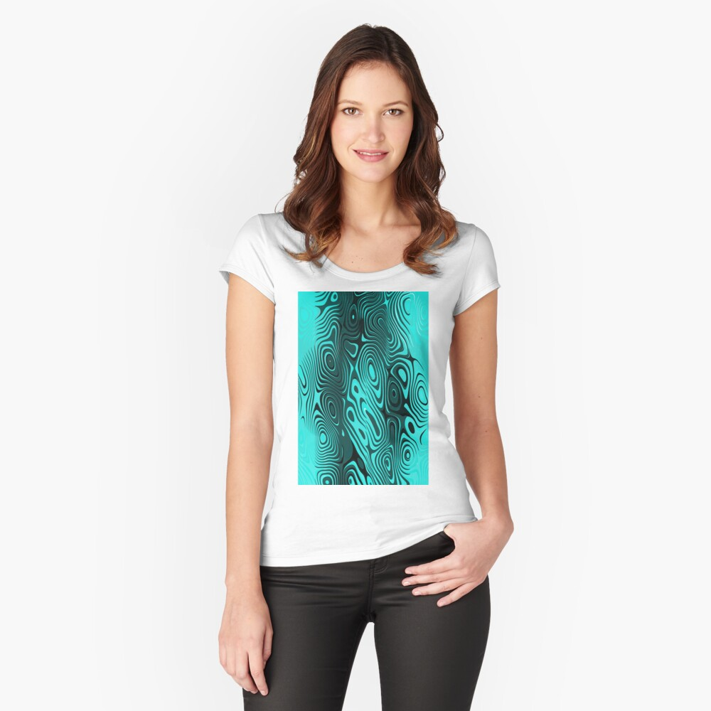 Psychedelic art. Art movement Fitted Scoop T-Shirt