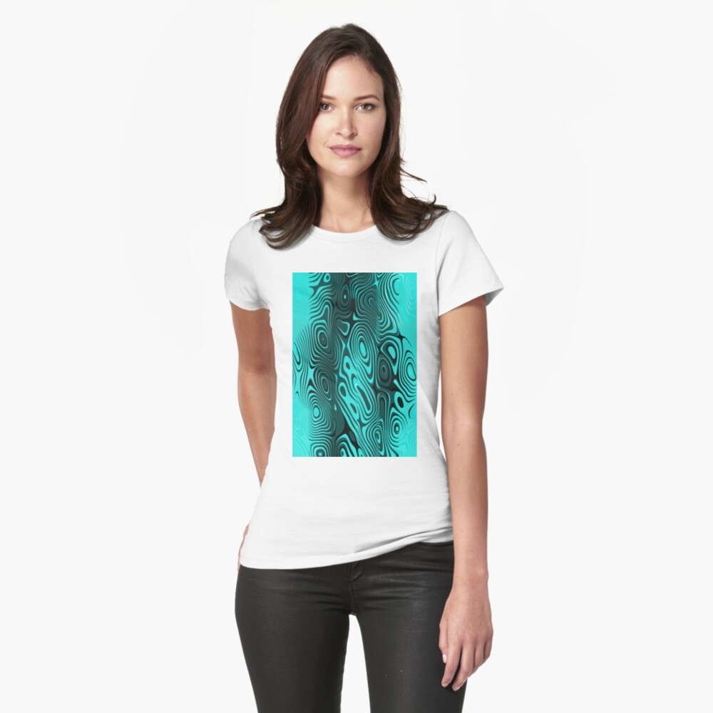 Psychedelic art. Art movement Fitted T-Shirt