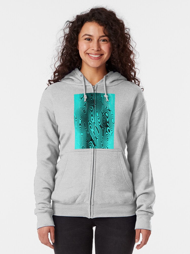 Alternate view of Psychedelic art. Art movement Zipped Hoodie