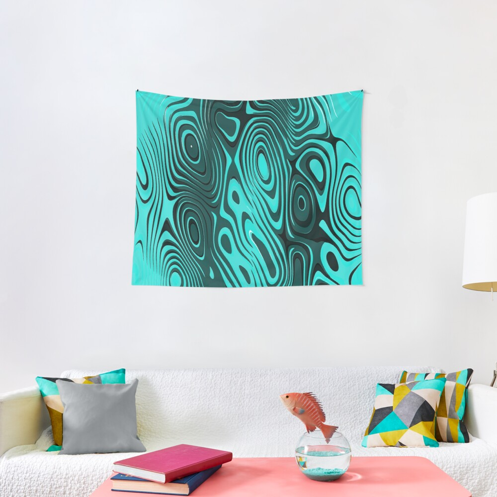 Psychedelic art. Art movement Tapestry