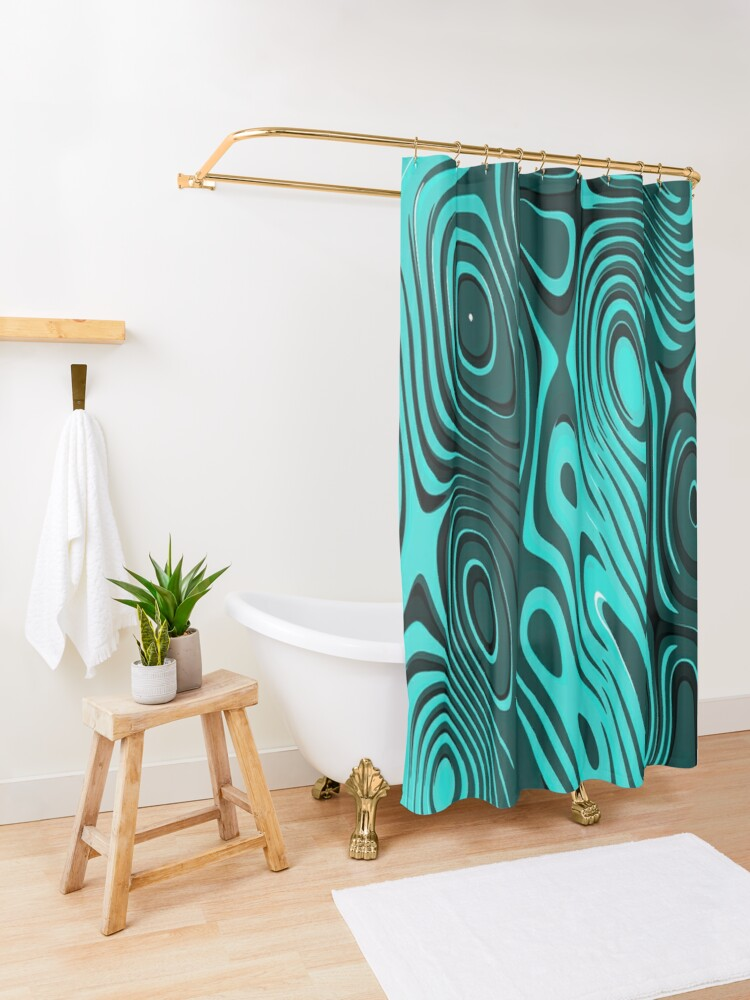 Alternate view of Psychedelic art. Art movement Shower Curtain