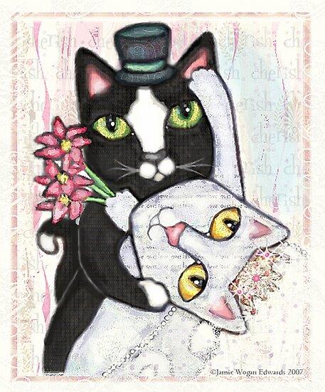 Wedding Dance Bridal Cat Couple Design by Jamie Wogan Edwards