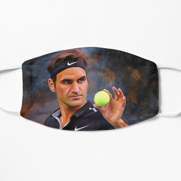 Art Roger Federer Masque sans plis