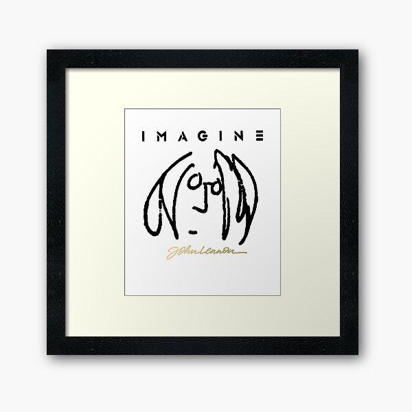 john Lennon SELF Portrait Framed Art Print
