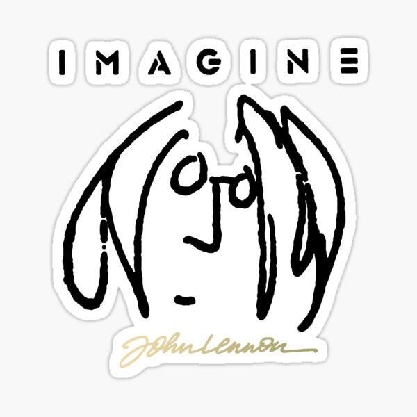 john Lennon SELF Portrait Sticker