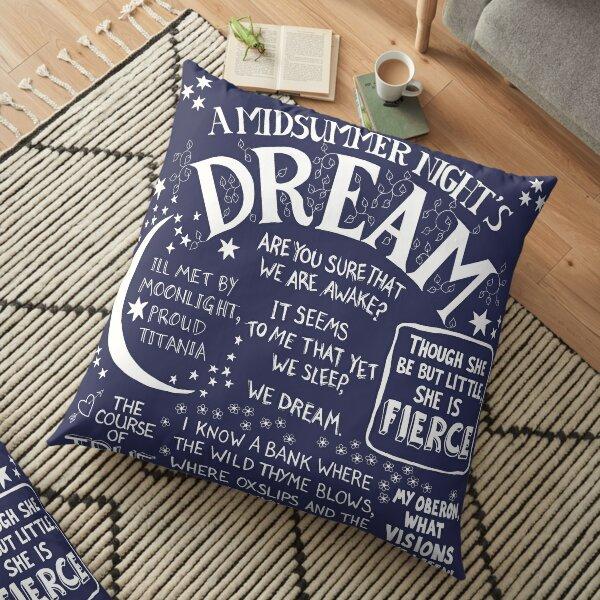 Shakespeare A Midsummer Night's Dream Floor Pillow