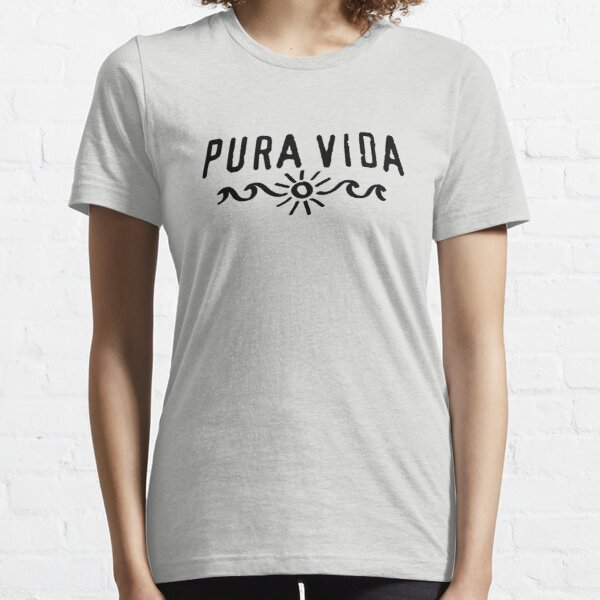 Pura Vida, Good Vibes, Costa Rica, sun, waves, surfing Essential T-Shirt