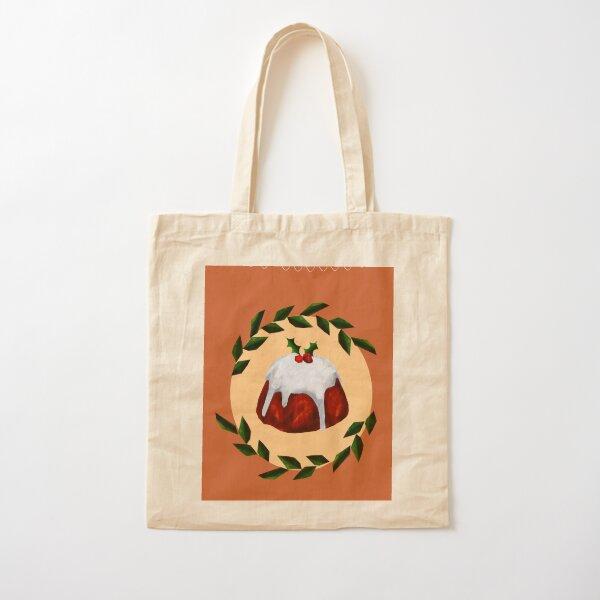 Christmas pudding card Cotton Tote Bag