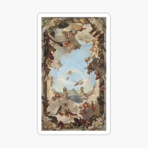 Giovanni Battista Tiepolo. Wealth and Benefits of the Spanish Monarchy under Charles III, 1762. Sticker