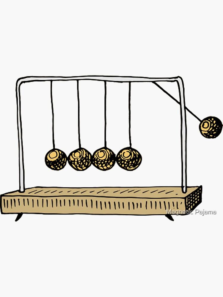 Newton's Cradle physics toy swinging spheres - newtonian pendulum  by MagneticMama