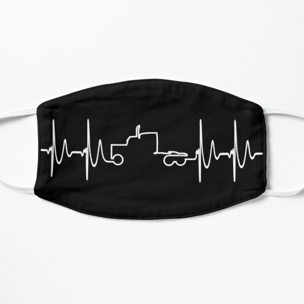 Truck Driver Heartbeat -Trucker Pulse - Big Rig Trucking Gift Mask