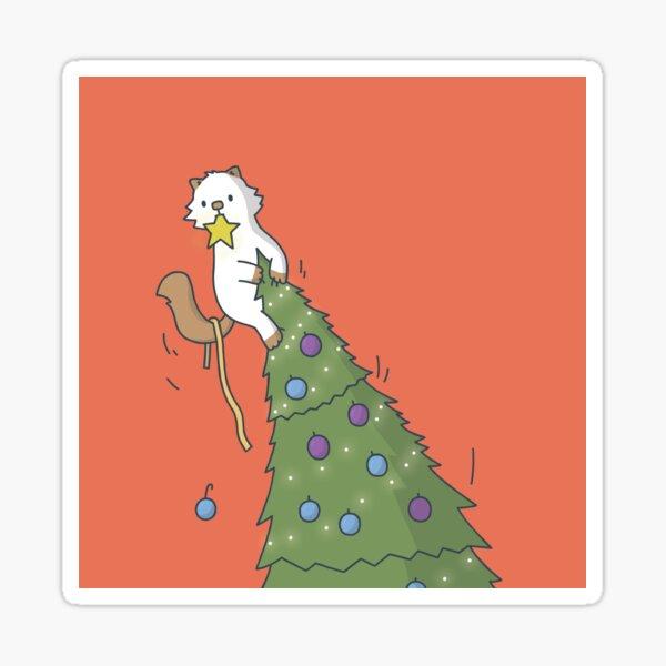 Christmas Tree Moo Sticker