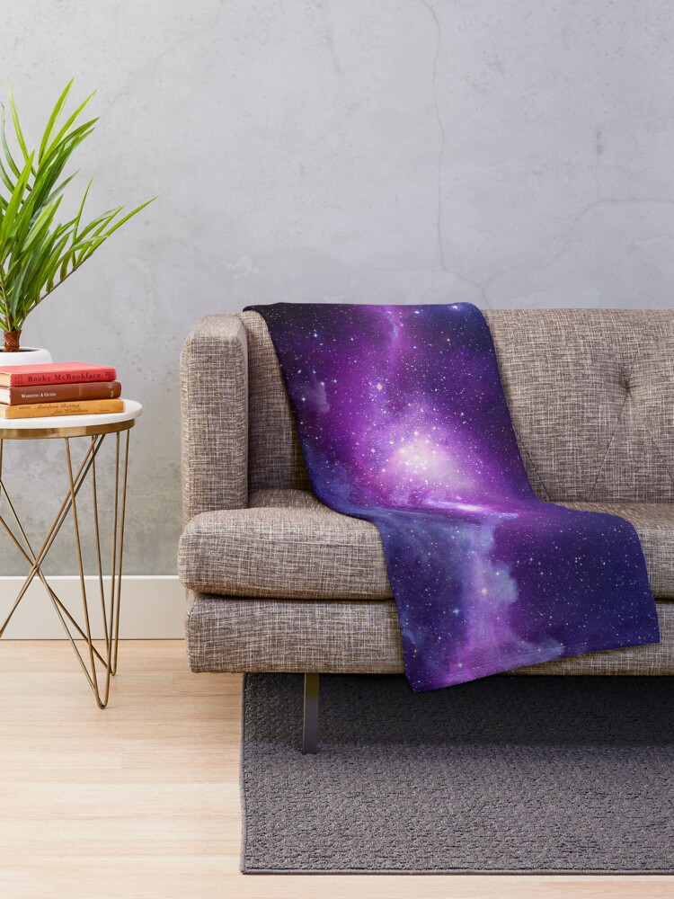 Alternate view of Galaxy  Throw Blanket