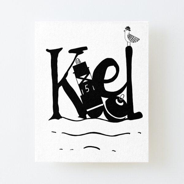 Kiel am Hafen schwarz Aufgezogener Druck auf Leinwandkarton