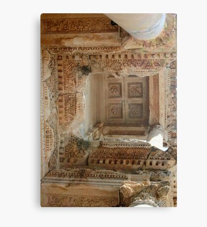 Ancient Library Ceiling Ephesus Turkey Canvas Print