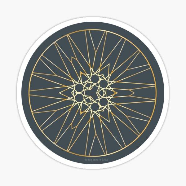 Golden Winterstars 2 Sticker