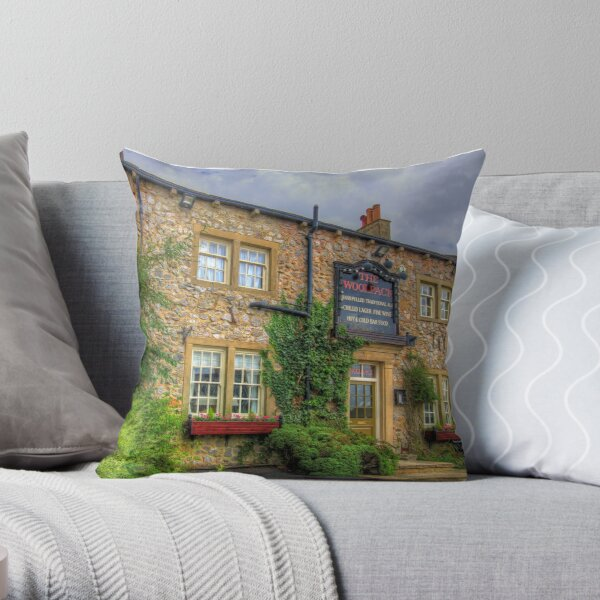 The Woolpack At Emmerdale Throw Pillow