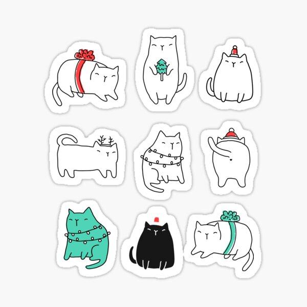 Fat Christmas cats Sticker