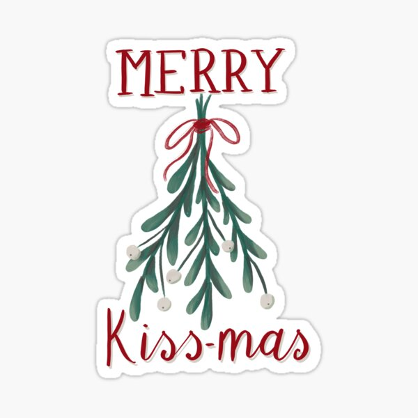 Merry Kiss-mas! Sticker