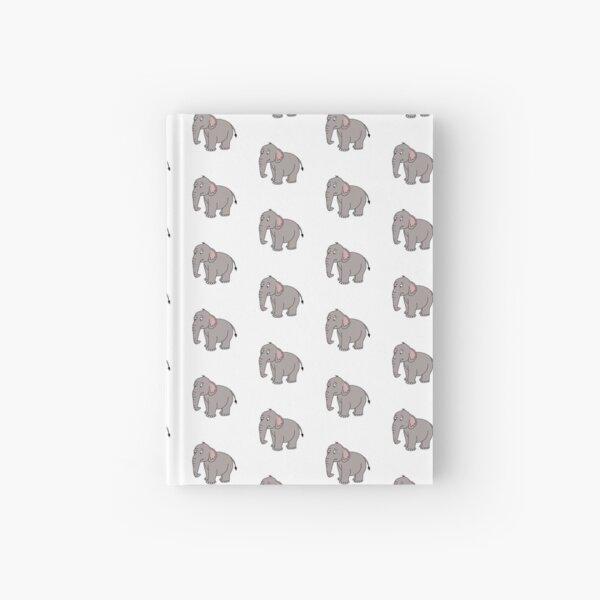 Cute Cartoon Elephant Digital Design Hardcover Journal