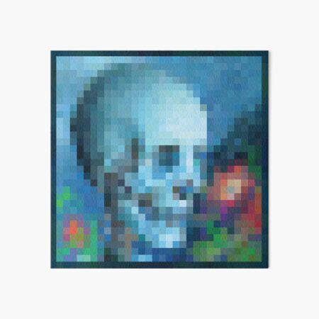 Minecraft Painting Moonlight Installation Art Board Print