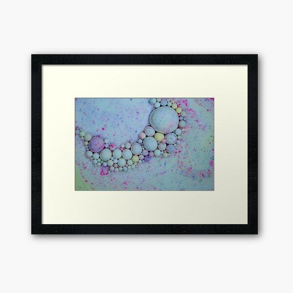 Bubbles Art Opossum Framed Art Print