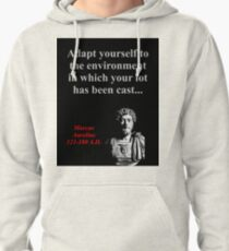 Adapt Yourself To The Environment - Marcus Aurelius Pullover Hoodie