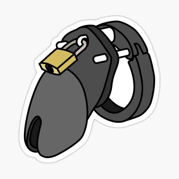 Chastity Cage (Black) Sticker