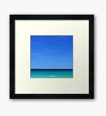 minimalist blue seaside Framed Print