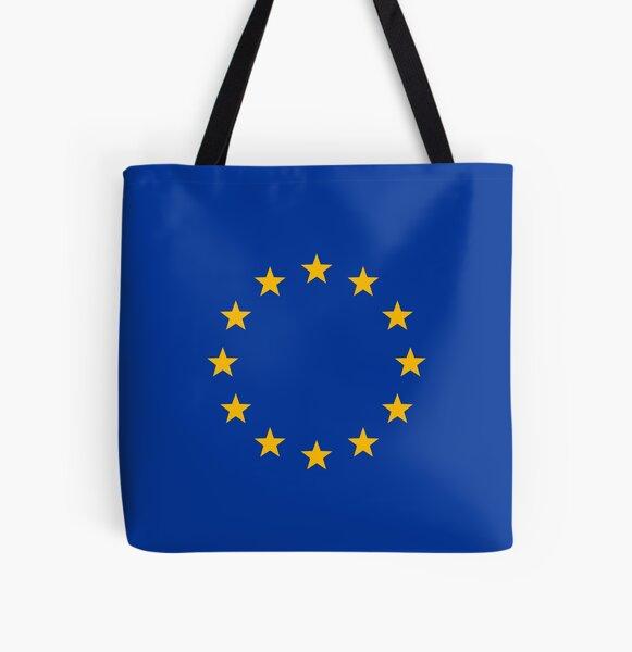 Europe, stars, flag, logo, European Union, symbol, EU All Over Print Tote Bag