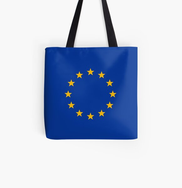 Europe, stars, flag, logo, European Union, symbol, EU All Over Print Tote Bag