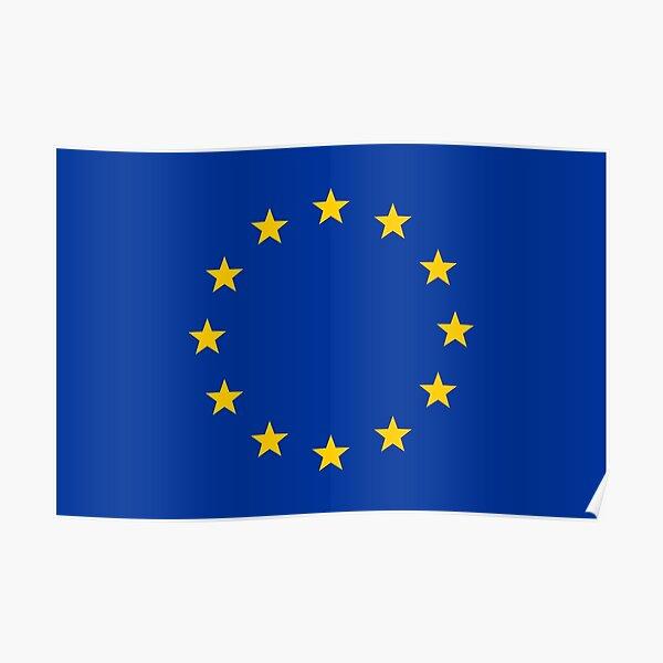 Europe, stars, flag, logo, European Union, symbol, EU Poster