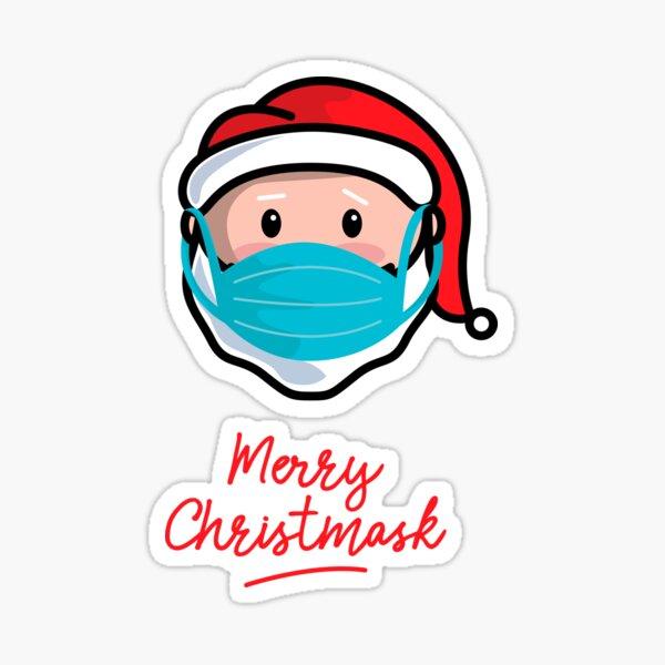 Merry Christmask Sticker