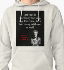 All That Is Harmony - Marcus Aurelius Pullover Hoodie