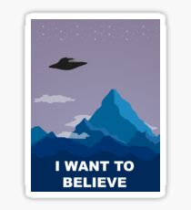 I WANT TO BELIEVE DRAWING Sticker