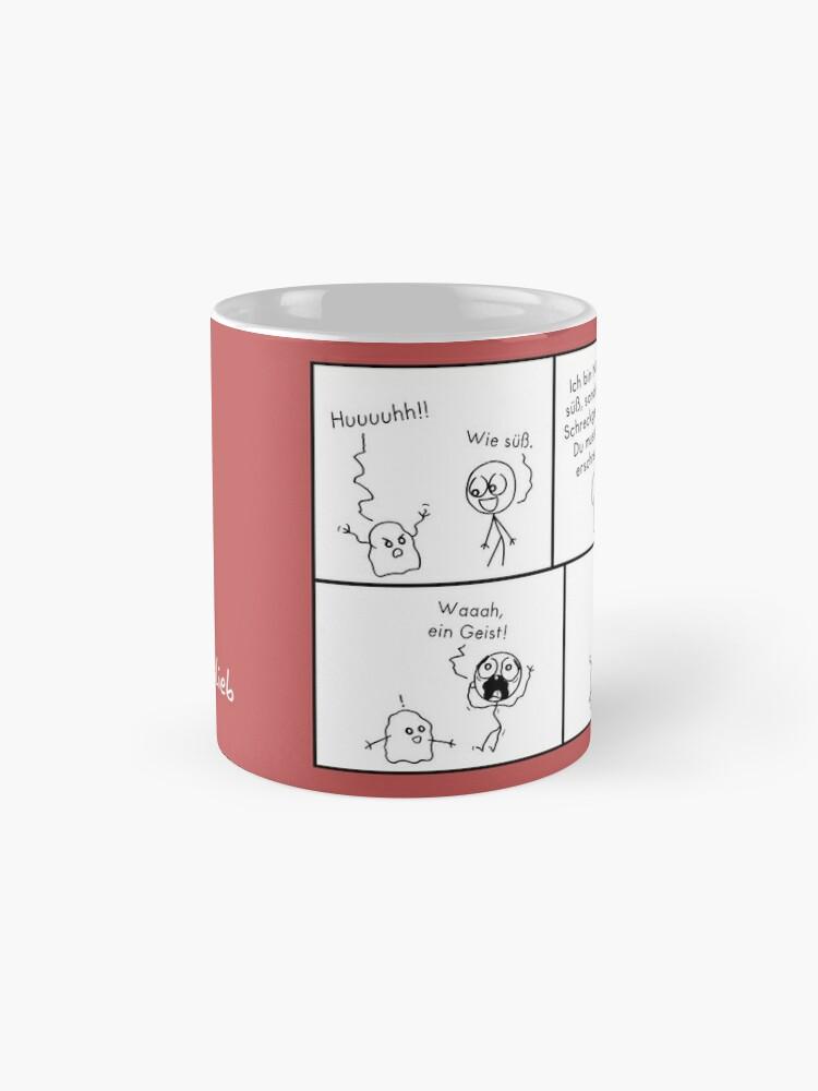 Alternative Ansicht von Erschrecken islieb Comic Tasse