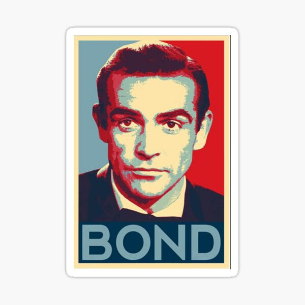 Sean Connery Pop Art Portrait RIP [HiSVG.Com] Sticker