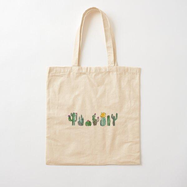 Watercolor Cactuses Cotton Tote Bag
